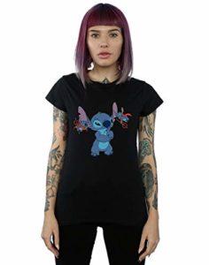 Disney Femme Lilo & Stitch Little Devils T-Shirt Noir Medium