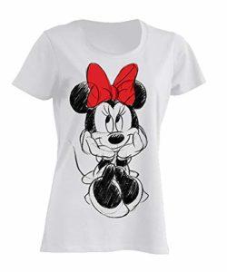 Disney Minnie Mouse Nœud Rouge T-Shirt Femme S
