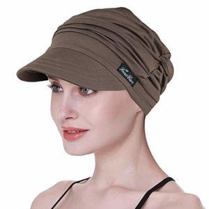 FocusCare Chapeaux légers de Gavroche pour la Couverture de tête de Viscose de Bambou de Femmes de Chimio