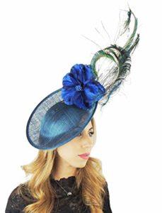 Hats By Cressida Chapeau Casquette avec Bandeau Bleu Sarcelle et Serre-tête