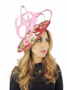 Hats By Cressida Superbe Serre-tête brodé Rose Fushia