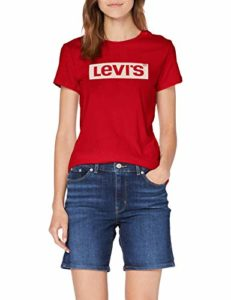 Levi's Sportswear Logo Graphic, T-Shirt Femme – Rouge (Box Tab Brilliant Red 0635) – Small