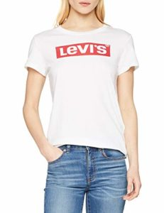 Levi's The Perfect Tee T-Shirt Femme – Blanc (Batwing White Graphic 53) – Small