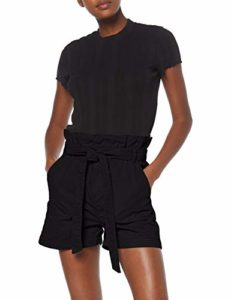 New Look Paperbag Utility Short, Noir (Black 1), 36 (Taille Fabricant: 8) Femme