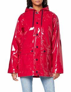 Petit Bateau Ciré_5037402 Veste Imperméable, Rouge (Terkuit 02), Medium (Taille Fabricant: M/18 M18ans) Femme