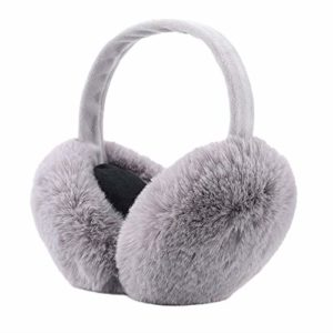 SEDEX Cache-oreilles pour femme et fille Accessoires de ski pliables pour adultes Protection contre le vent Cadeau de Noël pour l'hiver – Gris –