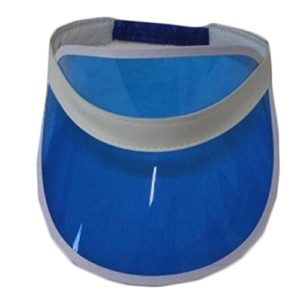 Unisex Sun Visor Poker Hat Golf Neon Pub Stag Rave 1980s Dance Cap Headband (Blue) by Visor Hat