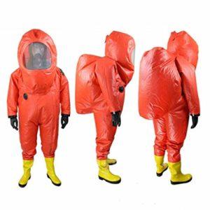 XUDONG Royaume-Uni Protection Globale des vêtements de Protection Contre Les Produits Chimiques, Une pièce entièrement fermée et Anti-Corrosion et résistant aux acides (Taille: S),Grand