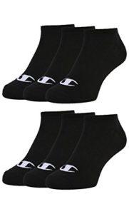 Champion 6pk Sneaker Socken Chaussettes, Noir, 35-38 Mixte