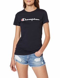 Champion Classic Logo T-Shirt, Bleu (NNY Bs501), Medium (Taille Fabricant: M) Femme