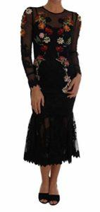 Dolce & ‿Gabbana Robe à Motif Floral Noir – Noir – 34 FR S