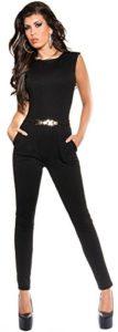 KouCla – Combinaison – Pull – Uni – Femme noir noir S