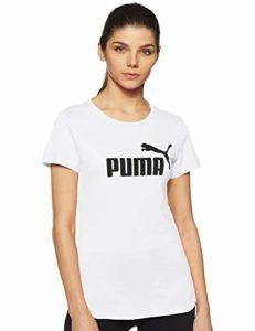 PUMA ESS Logo Tee T-Shirt Femme, Blanc White, X-Large