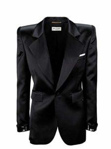 SAINT LAURENT Luxury Fashion Femme 592324Y145D1000 Noir Blazer | Automne_Hiver