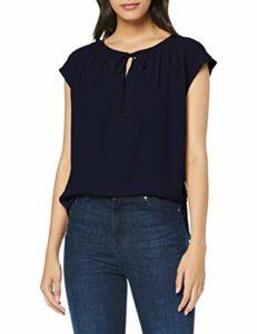 s.Oliver BLACK LABEL 11.908.32.7654 T- T-Shirt, Bleu (Luxury Blue 5959), 40 (Taille Fabricant: 38) Femme