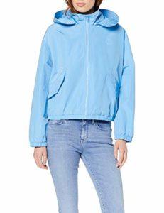 Tommy Hilfiger SABA Short Packable Windbreaker Veste imperméable, Bleu (Alaskan Blue 411), S Femme